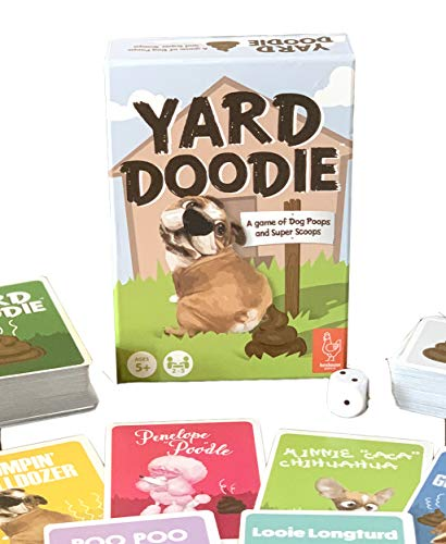 Henhouse Games' Yard Doodie Card Game | New Family-Friendly Dog Poop Game | Great for Kids, Teens and Adults | for 2-5 Players Ages 5+