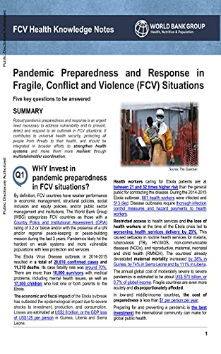 Pandemic Preparedness and Response in Fragile, Conflict and Violence Situations (English Edition)