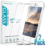 HPTech iPhone SE 2016 Screen Protector - Tempered Glass Film for Apple iPhone SE 2016, 5S, 5C, 5, Easy to Install, Bubble Free, 9H Hardness, 2-Pack