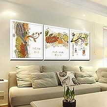 Paintsh Modern Minimalist Decorative Painting Murals Flower Painting Triple Painting Sofa Background Wall Painting Spray ...