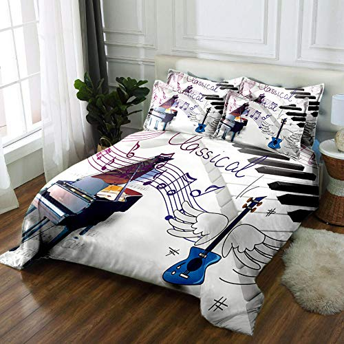 RYQRP Bettbezug Klavier Musiknoten...