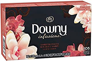 Downy Infusions Fabric Softener, Amber Blossom 105 Little Sheets (Pack of 2)