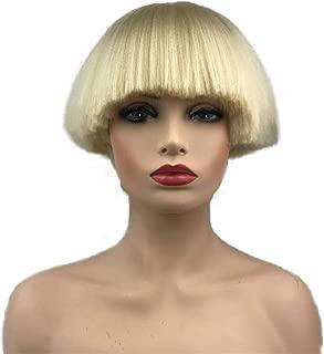blonde bowl cut wig