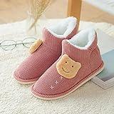 Sonze Zapatillas de Invitados,Zapatos de confinamiento de Invierno de caña Alta, Zapatos de Plataforma Antideslizantes para Mujeres Embarazadas-Red_39,Zapatillas de Invitados