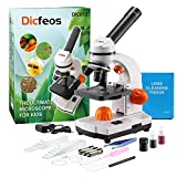 Dicfeos Microscope for Kids and Student, 40X-100X-250X-400X-1000X Magnification, Optics Glass Lens,...