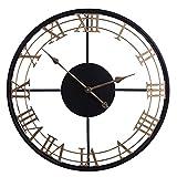 G-X Reloj de Pared Grande, Reloj de Vintage Industrial Europeo de 24 Pulgadas...