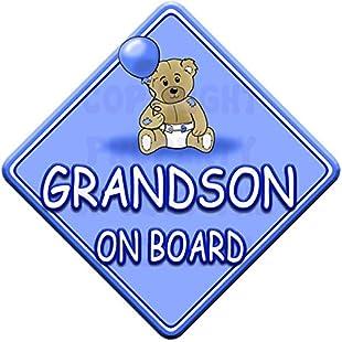 TED BALL * GRANDSON ON BOARD * car window sign:Viralinfo