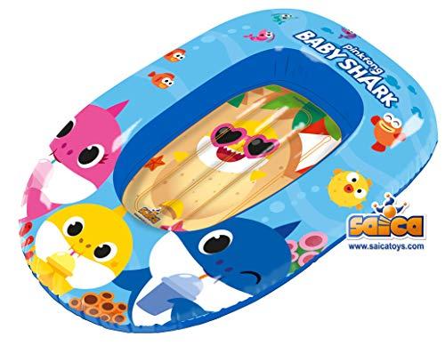 Baby Shark- Barca Gonfiabile per Bambini, 7017