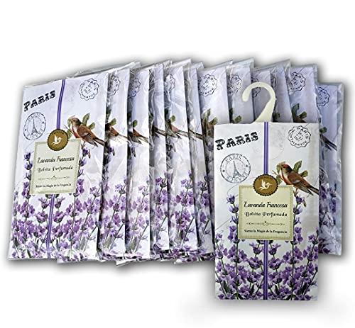 Lote 12 Bolsas Perfumadas Fragancia Lavanda Francesa, Sobres
