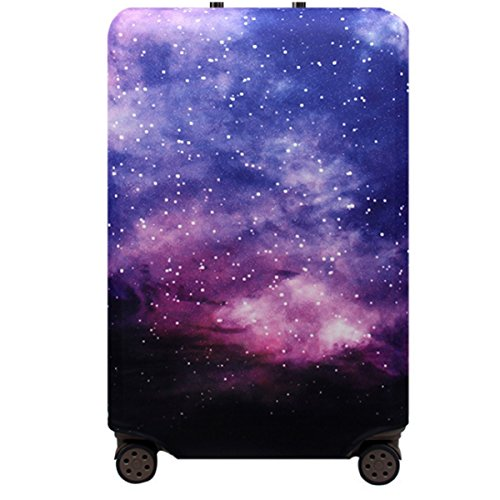 YianBestja Elastisch Reise Kofferschutzhülle Abdeckung Waschbar Kofferhülle Schutz Bezug Luggage Cover für 18-32 Zoll Koffer (Nebel, L (25-28 Zoll))