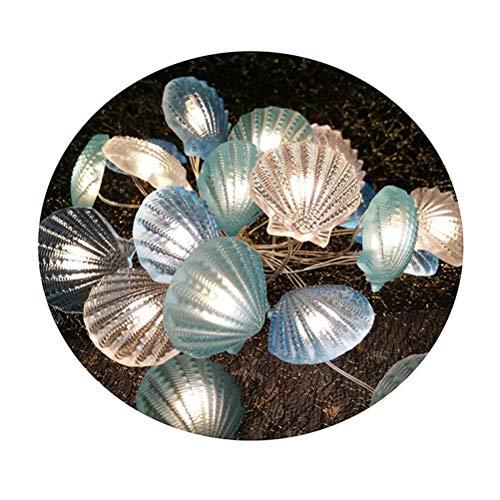 BovoYa LED Lichterkette, Muschel Lichterkette LED batteriebetriebenen Beleuchtung LEDs warmweiß Dekoration für Indoor Outdoor Hochzeit Geburtstag Patio Home Parteien