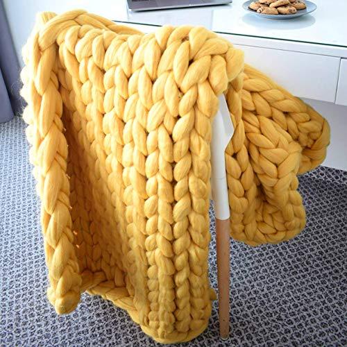 FXYY Chunky Knit Deken Throw garen plafonds handgemaakte kabel dikke arm breien grote koningin super gezellig zacht voor wooncultuur bed/sofa/sofa/stoel