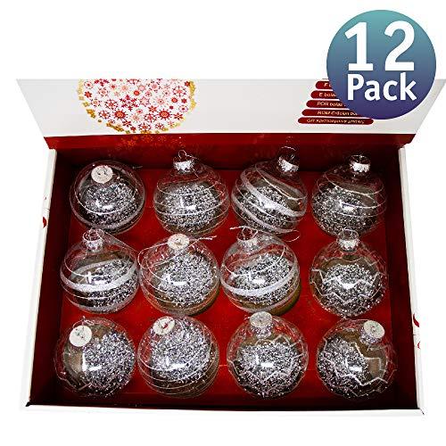Bolas de Navidad Personalizables rellenables. Bolas Transparentes de Decoración para Árbol de Navidad. Adornos...