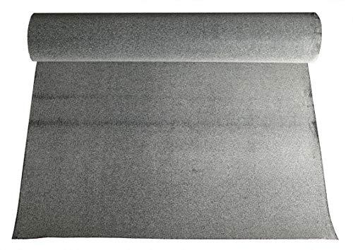 Rouleau carton bitumé noir sablé 10 m² 10 x 1m