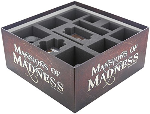 Feldherr Schaumstoff-Set kompatibel mit Villen des Wahnsinns 2. Edition Brettspiel-Box