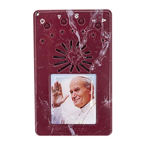 Holyart Rosario Elettronico Rosso Marmorizzato G.Paolo II Litanie, Volto - San Pietro?