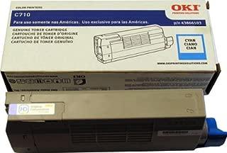 Okidata 43866103 C710 Toner Cartridge (Cyan) in Retail Packaging