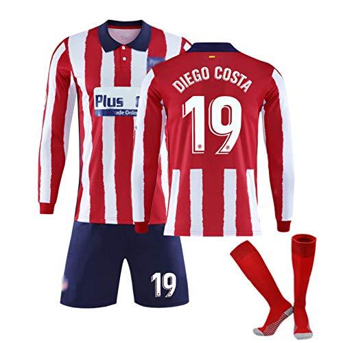 Fußball-Jersey-Anzüge Für Mens Boy # 9 Suarez # 7 João Félix # 19 Diego Costa Trikot, Fußball Shirts Top Shorts Uniform, Alltag Freizeit Trainingsanzüge Sportwear #19-S