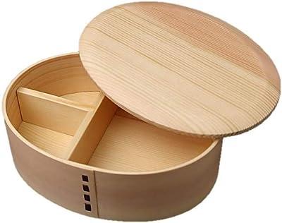 若兆 置蓋型丸み一段弁当箱 ナチュラル AAP03