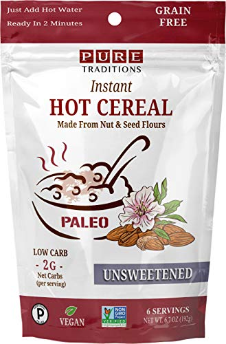 Instant Hot Cereal, Grain and Gluten-Free, Certified Paleo, Unsweetened, 6 Servings (6.7 oz)