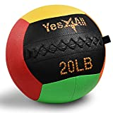 Yes4All Vibrant Wall Ball/Wall Medicine Ball for Full Body Workout and Strength Exercise – 20 lbs