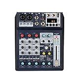 Mezclador de audio con controlador de sonido DJ profesional de 8 canales para grabación en PC, conector de micrófono XLR, conexión de alimentación USB de 5 V, almohadilla, FX DSP de 16 bits