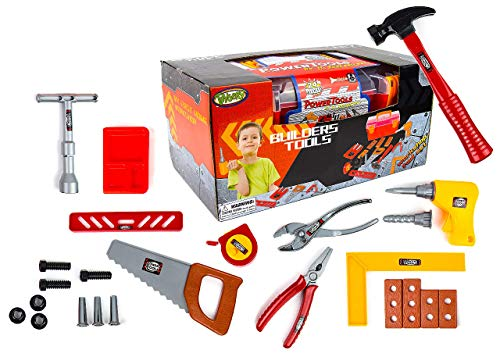 Toysery 24 Pieces Complete Kids Toy Tools Set - Fun Tool Box Kit For Kids, Toddlers with Handy Lightweight Suitcase - Educational Toy and Best Gift Idea
