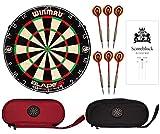 Winmau Blade 5 - Diana con 6 dardos (incluye 6 dardos + 2 bolsillos + 1 bloque de puntuación)