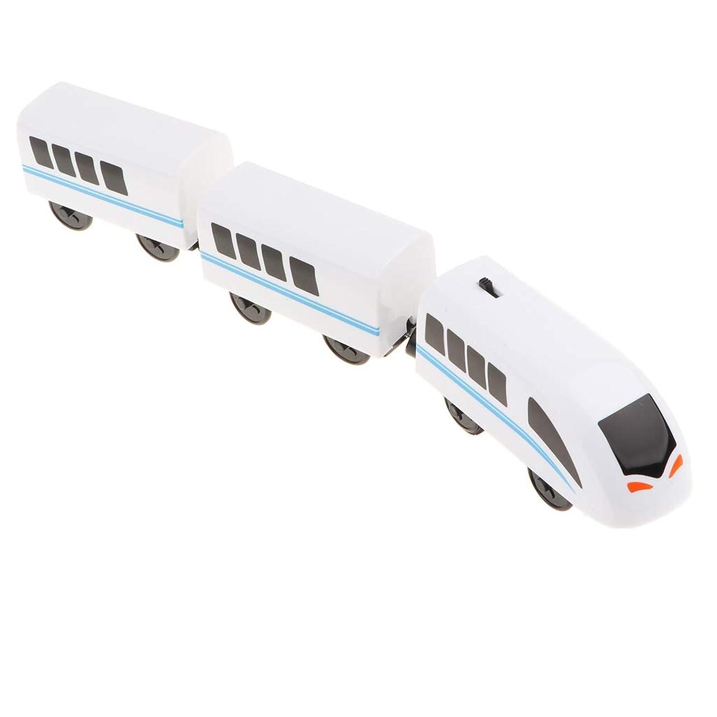 ノイズバウンド週末ホワイト 機関車 電車 車両モデル プラスチック製 おもちゃ