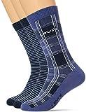Levi's Unisex-Adult Positive Plaid Regular Cut (2 Pack) Sock, Blue/Caviar, 43/46 (2er Pack)