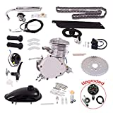 Goplus Bicycle Motor Kit, 80cc 2-Stroke Upgrade Bike Engine Kit, Gasoline Motorized Gas Engine Bike Motor Kit, Speed Up to 50km/h,...