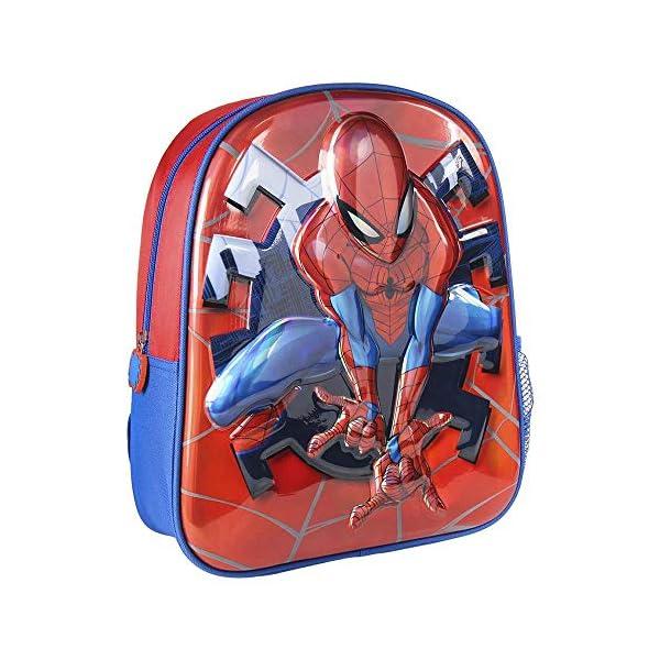 51g6F0S133L. SS600  - Cerdá, Mochila Infantil 1-5 Años de Spiderman con Licencia Oficial de Marvel Studios-Medidas 25 x 31 x 10 cm Unisex…