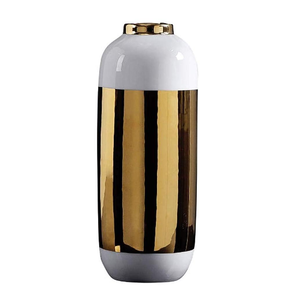 顧問押し下げるプリーツ陶磁器の花瓶 XJJUN 陶磁器の花瓶 ホームデコレーション花瓶とテーブルセンターピース花瓶クリスマス、ウェディング、ブライダルシャワーシンプルでモダン、2サイズ (Color : B-29.5X11.5CM)