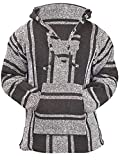 Classic Mexican Baja Hoodie Sweater Pullover (Brown,...