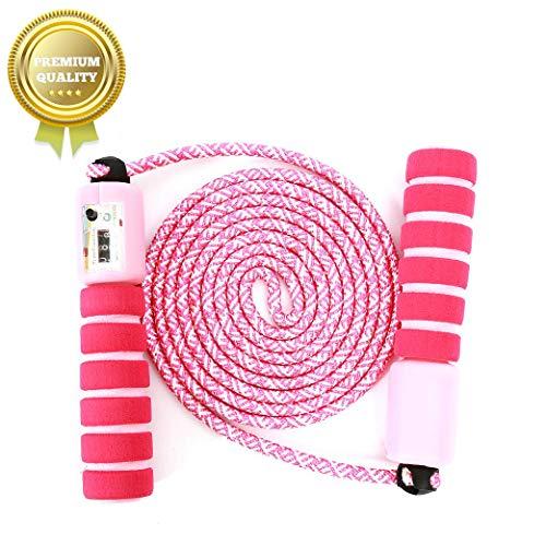 Springseil Speed Rope,springseil Boxen,springseil Sport Kinder,Springseil Kinder Speed Rope mit Zähler,Springseil Sport,Verstellbares Speed Rope Seilspringen!!(Pink)