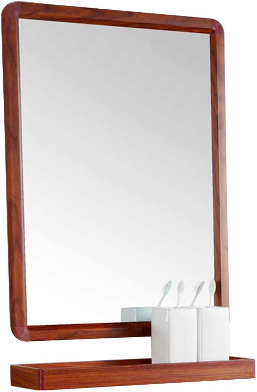 Mirror, Bathroom mirror Vanity mirror Shaving mirror Simple with Shelf Wall Mount mirror Anti-Fog
