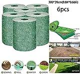 Hierba germinación de la semilla manta Mat de semillas de pasto, fertilizantes Papel hierba crecer Mat biodegradable todo en uno falso creciente de soluciones for el césped artificial no, o hierba 723