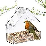ZKZKK Acryl Transparent Bird Feeder Bildschrim Bird Feeder Tray Vogelhaus Saugfusshalterung Haus Typ...