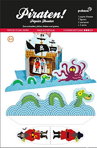 Forum Traiani Bastelvorlage Piraten - Papiertheater Pukcaka DIY Bastelbögen Papier-Karton für Kindergeburtstag als Geschenkidee, Bastelidee   Papiermodelle für Jungs