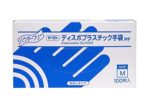『大和工場 プラスチック手袋 PF(パウダーフリー) M 100枚』の1枚目の画像