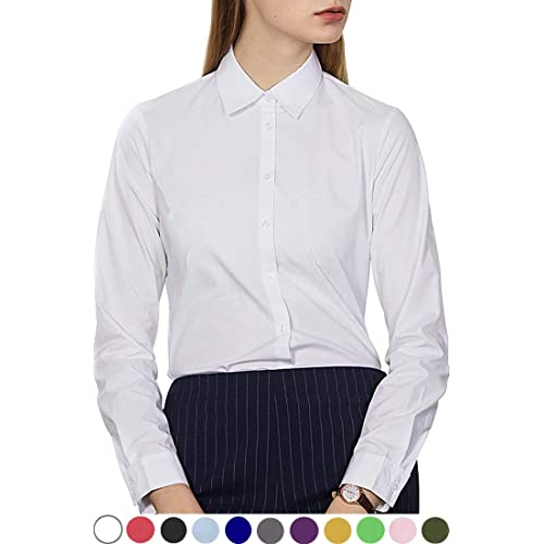 4c9d3a7a200 diig White Button Down Shirts for Women