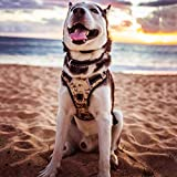 BABYLTRL Big Dog Harness No Pull Adjustable Pet Reflective Oxford Soft Vest for Large Dogs Easy Control Harness (L, Camo)
