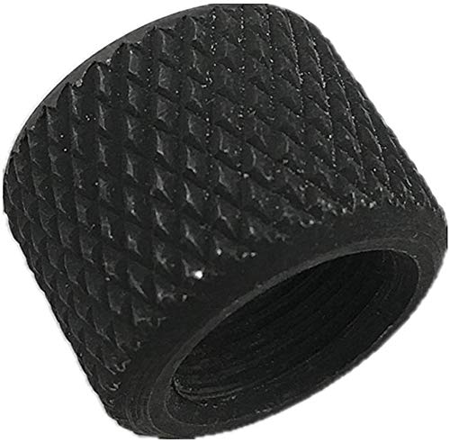 Review Ahlmanstr Steel Thread Protector 5/8''x24 TPI No Need Crush Washer Black Color