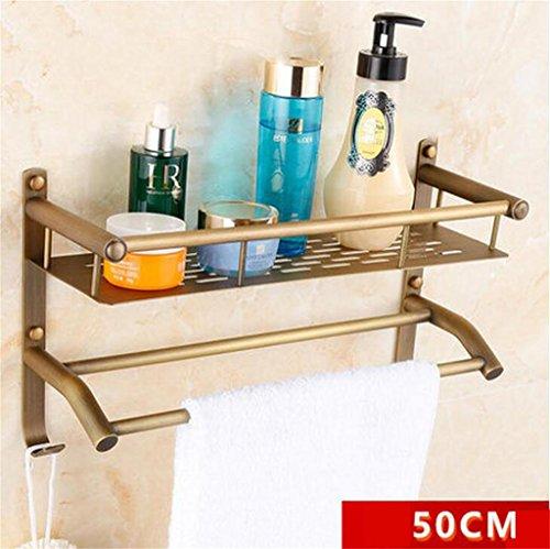 FAFZ Salle de bain Etagère, Salle de bain Etagère de style européen, Double-couche de bain rack (couleur : 10#)