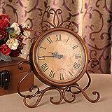 ETH Europeo Retro Retro Antiguo Antiguo Reloj De Bronce Reloj Decoración Hogar...