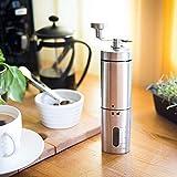 Manuel Café Grinder- Main Conique Grain De Café Moulin Avec Mécanisme En Céramique Par Flafster En Acier Inoxydable Portable Cuisine- Bur