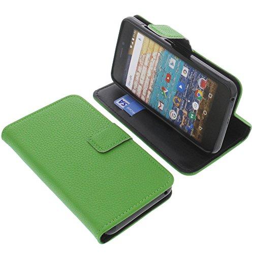 foto-kontor Tasche für Archos 50f Neon Book Style grün Schutz Hülle Buch