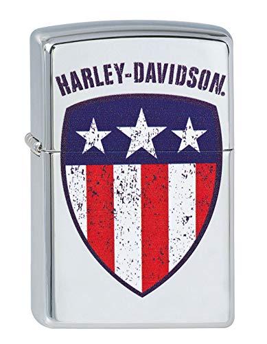 Zippo Zippo 2.003.166 Feuerzeuge Harley-Davidson Flag - Collection 2013 - Chrom hoch glänzend Mehrfarbig