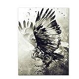 HSFFBHFBH Leinwand Malerei Adler Wandkunst Nordic Poster