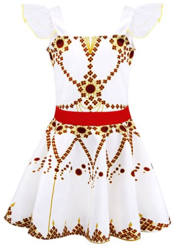 AmzBarley Disfraz de Bailarina de Felicie Vestido de Bailarina de Ballet para niños Fiesta de Rendimiento de niñas 5-6 Años